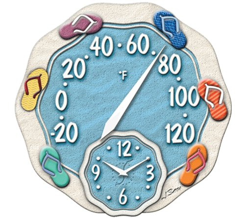 New springfield brand flip flop outdoor temperature for Garden treasures pool clock