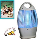 """EMERSON'S"" INDOOR/OUTDOOR CORDLESS RECHARGEABLE BUG ZAPPER (HANGS OR SITS ON ANY FLAT SURFACE!)"