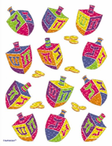 Hanukkah - Dreidel Stickers Party Accessory