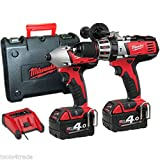 Milwaukee M18BPP2A-402C 18V Combi Drill and Impact Driver Twin Pack 2 x 4.0ah Batteries