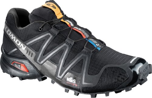 Salomon Men's Speedcross 3 Trail Running Shoe,Black/Black/Silver Metallic-X,10.5 M US (Speedcross 3 compare prices)