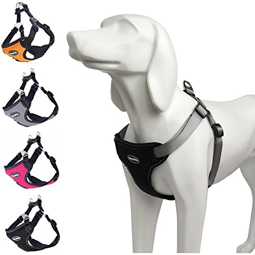 BINGPET No Pull Dog Harness Reflective for Pet Puppy Freedom Walking Medium Black (Medium Size Harness compare prices)