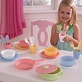 Kid Kraft Kids Children Home Indoor Pretend Play Toy 27 Piece Fun Cookware Set Pastel