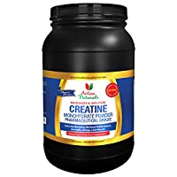 Top Rated Creatine Monohydrate 1000g - 100% Pure Micronized Creatine Monohydrate Powder - Activa Naturals Pharmaceutical Grade Creatine Powder Unflavored for Post Workout Muscle Building - 200 Servings
