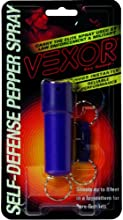 Vexor Self Defense Pepper Spray 12 -Ounce Cone Spray with Spin Top Holder and Key Release