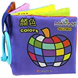 Atdoshop(TM) Baby Children Picture Hand Intelligence Development Educational Cloth Book Toy (Colors)