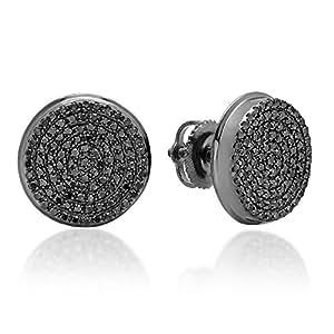 Amazon Com 0 40 Carat Ctw Sterling Silver Real Black