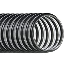 "Hi-Tech Duravent EH-L Light-Duty Series PVC Vacuum Duct Hose, Clear, 2-1/2"" ID, 2-7/8"" OD, 25' Length"