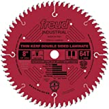 Freud LU96R008 8-Inch 64 Tooth TCG Thin Kerf Laminate Cutting Saw Blade with 5/8-Inch Arbor and PermaShield Coating