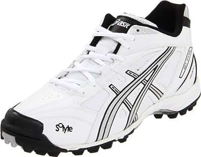 ASICS Women's GEL-V Cut MT Turf Field Shoe, White/Silver/Black, 6 M