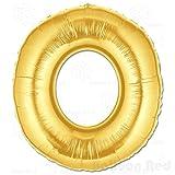 40 Inch Giant Jumbo Helium Foil Mylar Balloons (Premium Quality), Matte Gold, Letter O