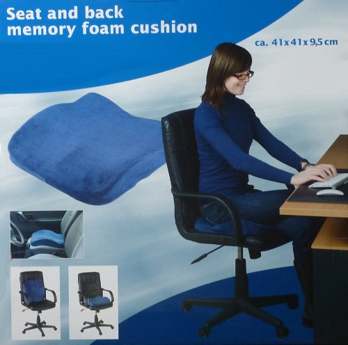 Seat and Back Memory Foam Cushion