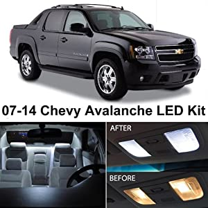 Ledpartsnow Chevy Avalanche 2007 2014 Xenon White Premium Led Interior Lights