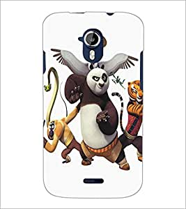 PrintDhaba Panda D-5346 Back Case Cover for MICROMAX A116 CANVAS HD (Multi-Coloured)