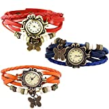 Combo of 3 VB-310 Vintage Butterfly Blue + Orange + Red