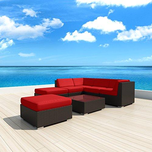 Luxxella-Patio-Mallina-Outdoor-Wicker-Furniture-7-Piece-All-Weather-Couch-Sofa-Set