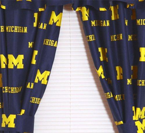 "Michigan Printed Curtain Panels 42"" X 84"" - Michigan Wolverines front-970957"