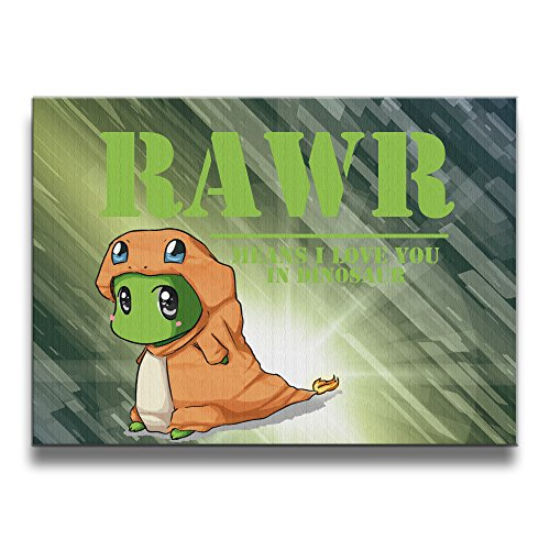[ASCHO2 RAWR Means I Love You In Dinosaur Frameless Art Photo Frame Picture Frame - Display Photo Home Wall Art Decor For Home Living Room Office Or] (Dr Strange Modern Costume)