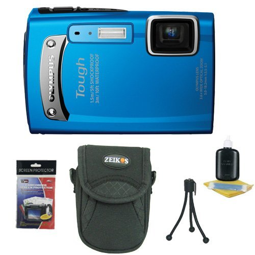 Olympus TG-310 14 MP Digital Camera (Blue) (228050) Essential Starter Kit