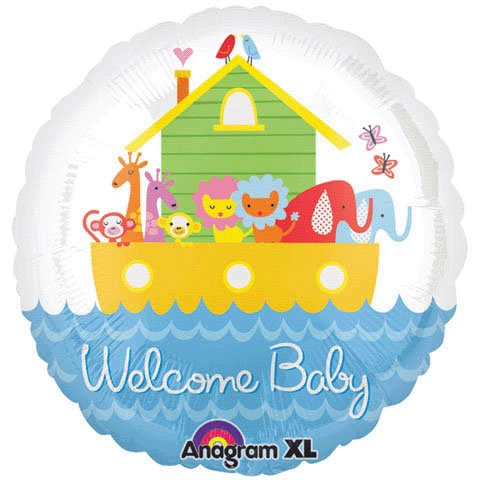 "18"" Welcome Baby Noah'S Ark Foil Balloon (1 Per Package) front-1081712"