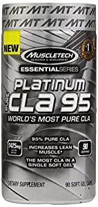 MuscleTech Platinum Pure CLA 95 Capsules, 90 Count