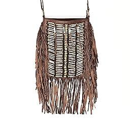 Boho Bag | Real Leather | Fringe Purse | Bohemian Bags | Hobo Tote Handbag