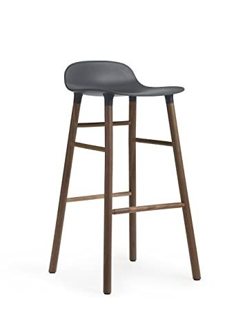 Normann Form Barstool Walnut - High - Seat height: 75 cm, Blue