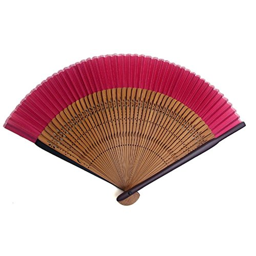 [Edo-Japan Traditional Crafts] Silk Sensu dyed in the traditional colors of Japan (Popy red)