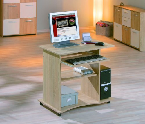 Computer desk with keyboard drawer 80 cm FineBuy KFB Sonoma Oak