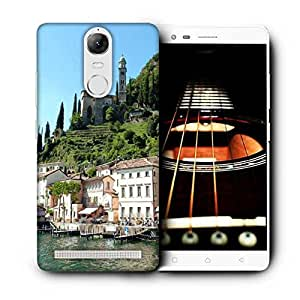 Snoogg White Buildings Printed Protective Phone Back Case Cover For Lenovo K5 Note