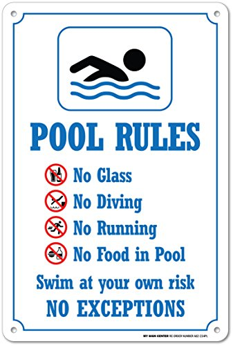 My Sign Center Swimming Pool Rules Safety Sign Plastic 14 10 Business Industrial Signage