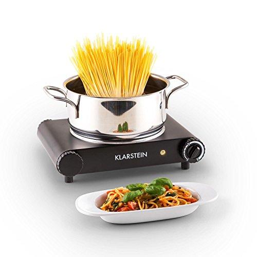 Klarstein Captain Cook - Plaque de cuisson en vitrocéramique (1200W, chauffe rapide, jusqu'à 500°c) - noir