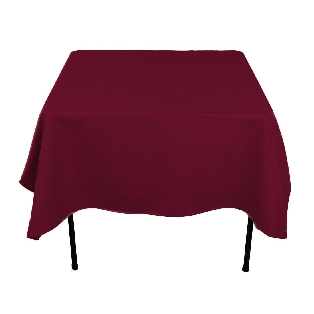 LinenTablecloth 70-Inch Square Polyester Tablecloth Burgundy