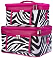Women's 2-Piece Set Make Up Cosmetic Train Cases - Multiple Prints & Trims! by Private Label
