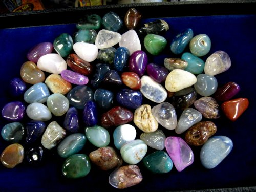 2 FULL LBS. POLISHED SEMI-PRECIOUS TUMBLED GEMSTONES sm/med size 1/2 to 3/4'',,,always GRADED AND HAND PICKED TO ENSURE QUALITY