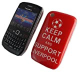 KEEP CALM AND SUPPORT LIVERPOOL PRINT HARD PLASTIC CASE COVER FOR BLACKBERRY CURVE 8520 9300