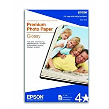 Epson Premium 4 x 6 Inch Glossy Photo Paper- 40 Count (S041808)