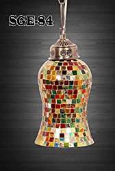 SGE Home Decorative Glass Hanging Lamps Hand made(Made in India)