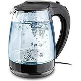 1.7-Liter Glass Electric Tea Kettle 1500-Watt Cordless Teapot LED Illumination