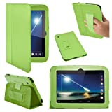 Stuff4 PU Leather Professional Portfolio Magnetic Case/Stand Cover for 7 inch Tesco Hudl - Green