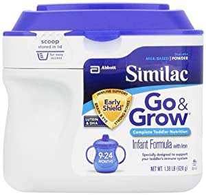 Similac雅培金盾2段奶粉22OZ装6罐Go & Grow Milk Based SS $128.51