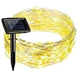 Setom 充電式LED イルミネーション 150球15m 点灯8パターン 防水 夜間自動点灯 クリスマス電飾/室内飾り/室外装飾