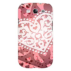 Jugaaduu Heart Lace Pattern Back Cover Case For Samsung Galaxy S3 Neo