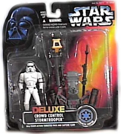 Star Wars Deluxe Crowd Control Stormtrooper With Flight-Action Thruster Pack ...