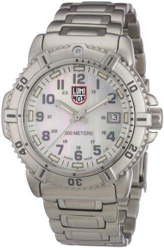 Luminox Women's Colormark 38mm Steel Bracelet & Case S. Sapphire Swiss Quartz MOP Dial Date Watch 7258