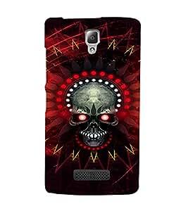 EPICCASE Red danger skull Mobile Back Case Cover For Lenovo A2010 (Designer Case)