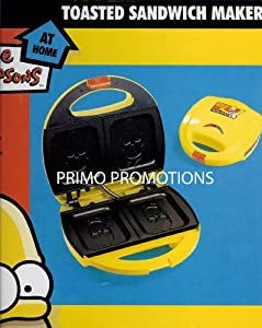 Simpson Yellow and Red Sandwich Toaster