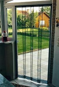 Tenda zanzariera 120x240cm a pannelli verticali maurer fai da te - Amazon zanzariere per finestre ...