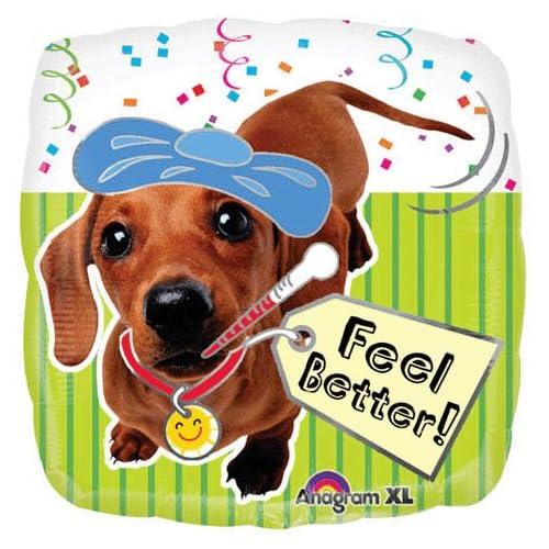 "Amazon.com: Get Well Soon / Feel Better Puppy Foil Balloon 18"""