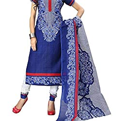 Shree Hari Creation Women's Poly Cotton Unstitched Dress Material (3636_Multi-Coloured_Free Size)
